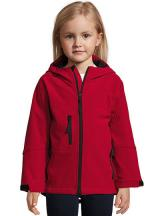 Kids` Hooded Softshell Jacket Replay